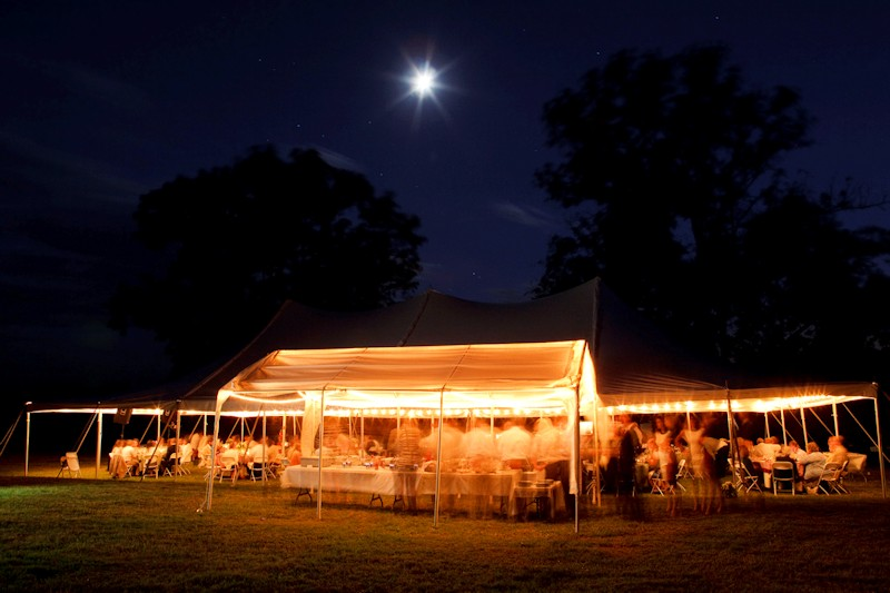 Evening Wedding at Sharp Rock Vineyards
